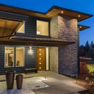 Modern home using KP Norman Rockwell vinyl siding in castlemore