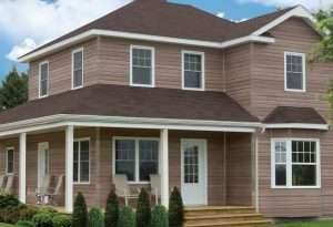 House with KP nothern star rustic vinyl siding