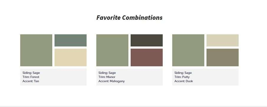 Accent Colors For Sage Green KP Vinyl Siding