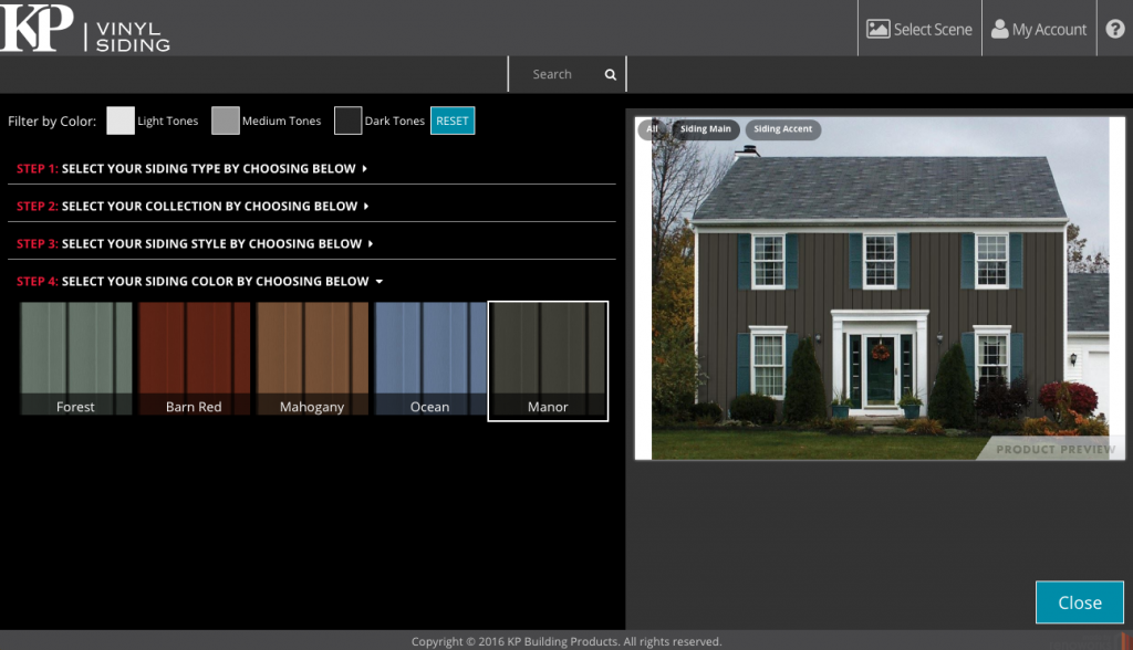 Home Designer 2.0, Vinyl siding colors